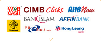 Pay with Web cash, Cimb Clicks, Maybank2u