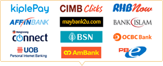 Pay with Kiple Pay, Cimb Clicks, Maybank2u
