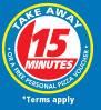 15-Minute Take-Away Guarantee