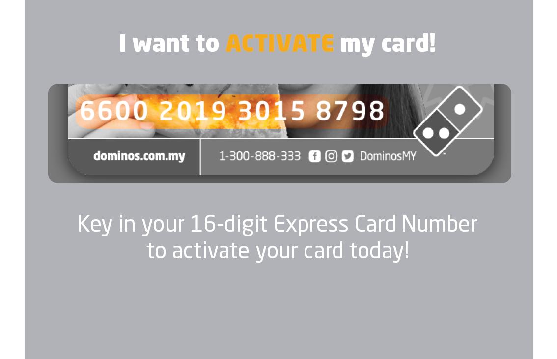 ca490e6172da2d Domino s Express Card - Best Deal for Take Away Pizza in Malaysia