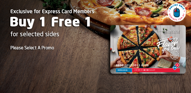Domino's Express Card - Best Deal for Take Away Pizza in