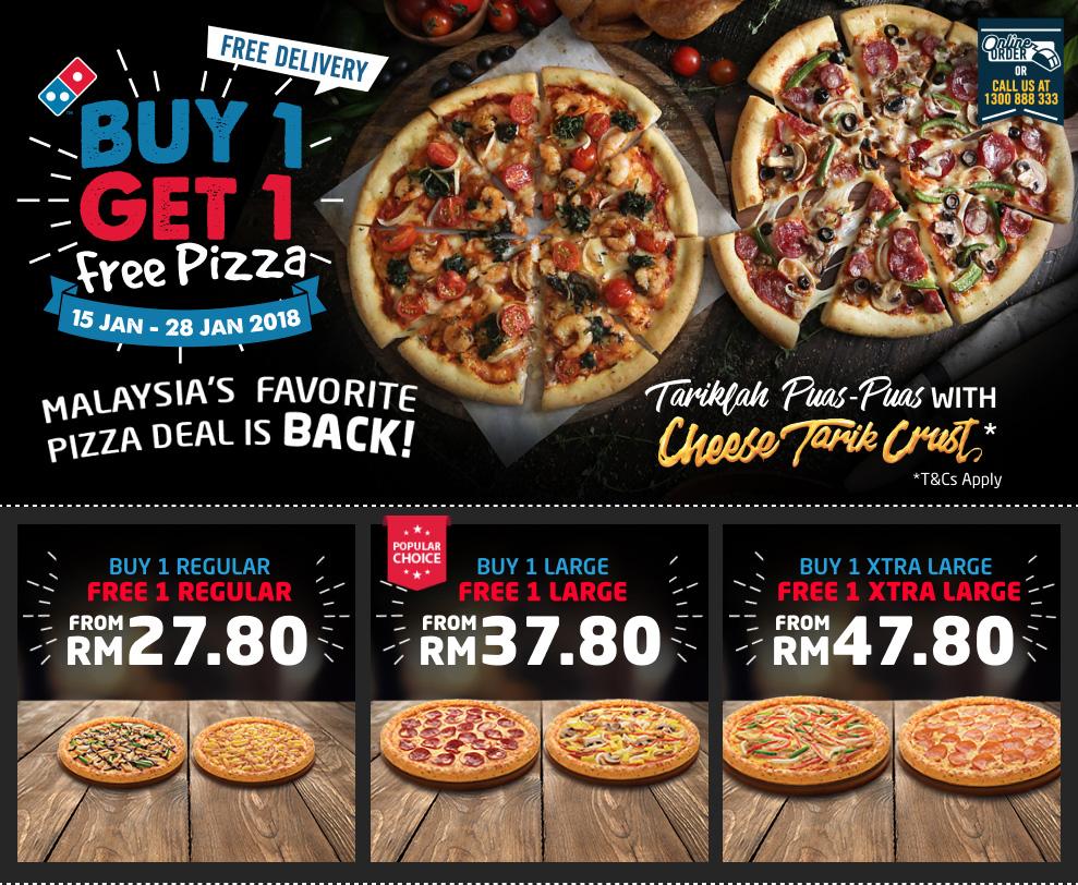 Domino S Pizza Buy 1 Free 1 Promotion Lobanghub Com